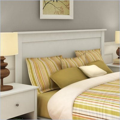 South Shore Breakwater Full / Queen Panel Headboard in Pure White