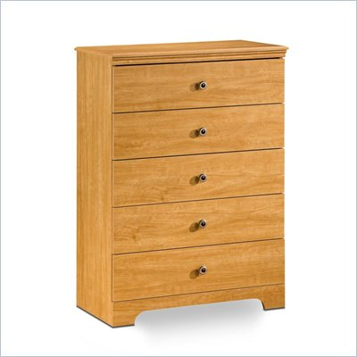 South Shore Brinley Kids 5 Drawer Chest in Florence Maple Finish