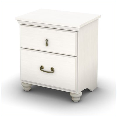 South Shore Dover Nightstand in White Wash Finish
