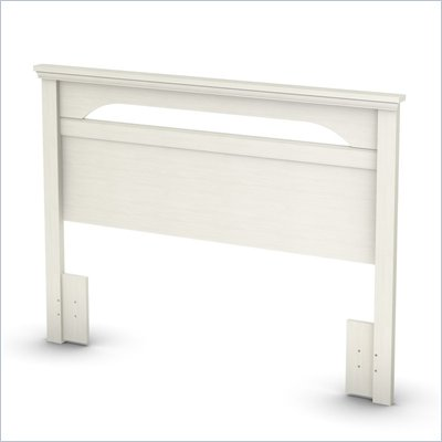 South Shore Dover Full / Queen Panel Headboard in White Wash Finish