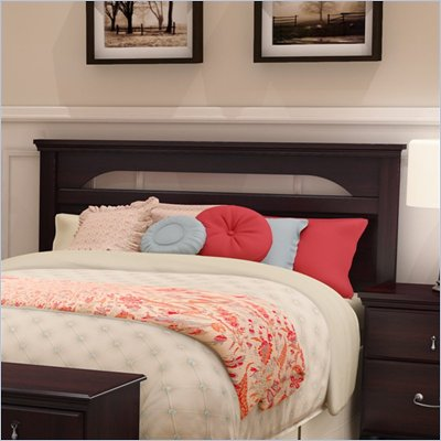 South Shore Dover Full/Queen Wood Panel Headboard in Dark Mahogany Finish