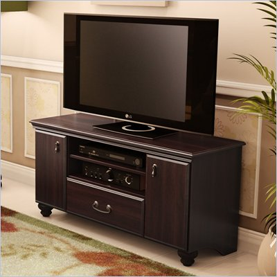 South Shore Dover TV Stand in Dark Mahogany