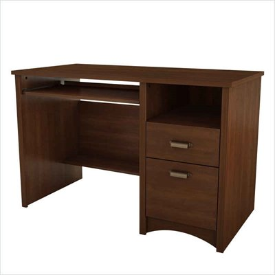 South Shore Glasgow Wood Computer Desk in Sumptuous Cherry