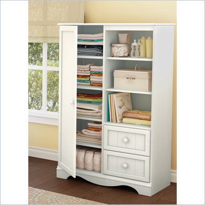 South Shore Handover Kids Door Chest in White Finish