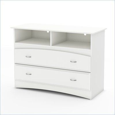South Shore Imagine TV Stand / Storage Unit in Pure White