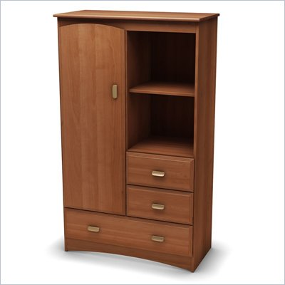 South Shore Imagine Kids Armoire in Morgan Cherry Finish