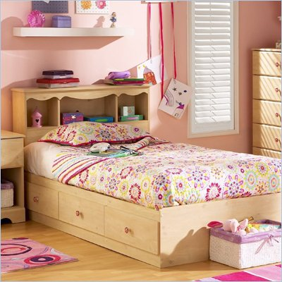 South Shore Lily Rose Kids Twin 3 Drawer Storage Bed Frame Only in Pine Finish