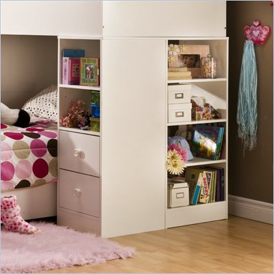 South Shore Logik Pure White Loft Combo Storage Unit