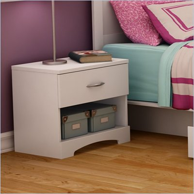 South Shore Maddox Nightstand in Pure White Finish