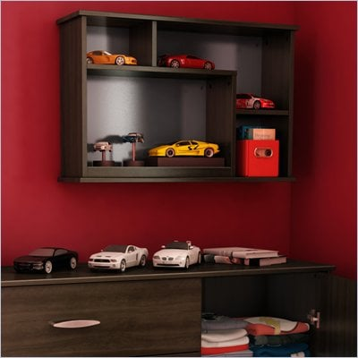 South Shore McLaren Wall Storage Unit in Mocha