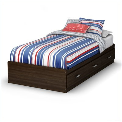 South Shore McLaren Twin Mates Bed in Mocha