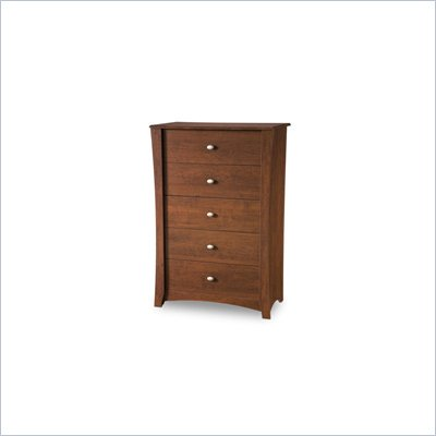 South Shore Mika Kids 5 Drawer Chest in Classic Cherry Finish