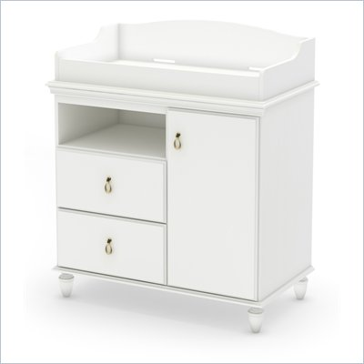 South Shore Moonlight Changing Table in Pure White