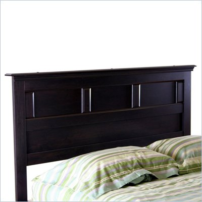 South Shore Mountain Lodge Queen Headboard in Ebony Finish