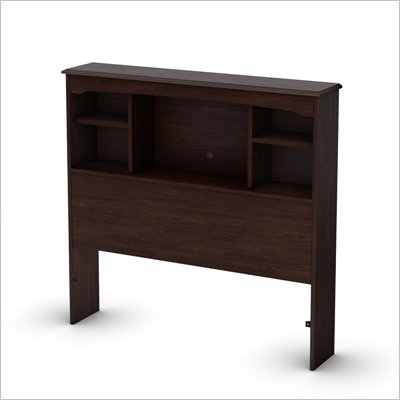 South Shore Nathan Twin Bookcase Headboard in Havana Finish