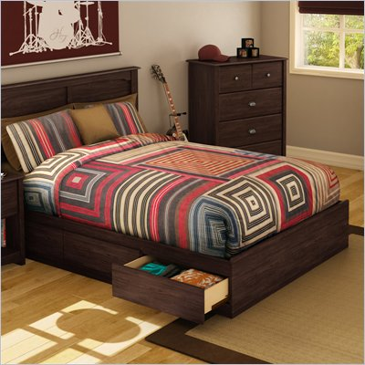South Shore Nathan Full Mates Bed in Havana Finish