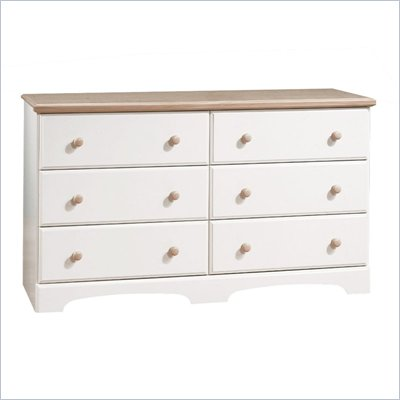 South Shore Newbury Collection Double Dresser in White