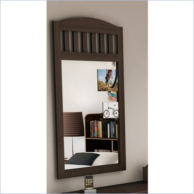 South Shore Newton Shaker Style Wall Mirror in Moka Finish