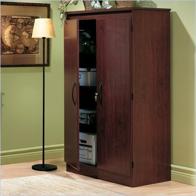 South Shore Park 2 Door Storage Cabinet in Royal Cherry Finish