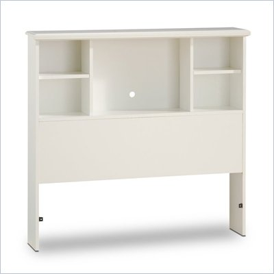 South Shore Sand Castle Pure White Twin Bookcase Headboard