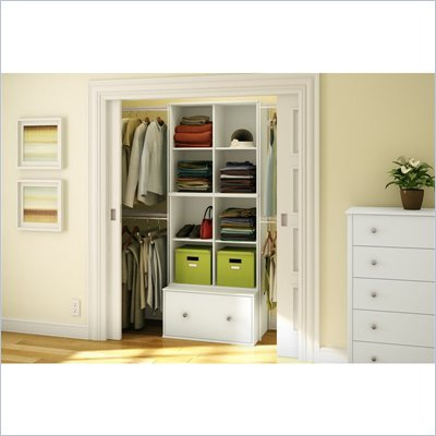South Shore Stor It 3 Piece Storage Unit in Pure White