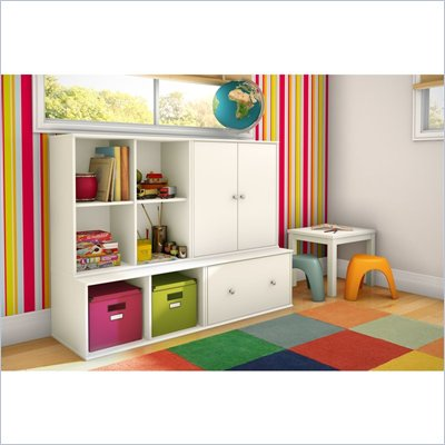 South Shore Stor It 4 Piece Storage Unit in Pure White