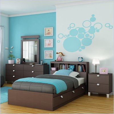 South Shore Cakao Kids Twin Bed 6 Piece Bedroom Set