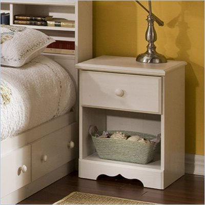 South Shore Summer Breeze Nightstand in White Wash Finish
