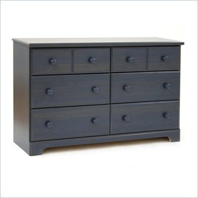 South Shore Summer Breeze Antique Blue Double Dresser