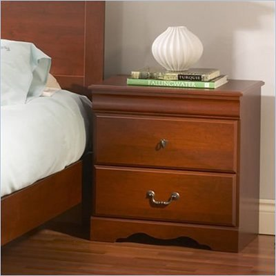 South Shore Vintage 2 Drawer Nightstand in Classic Cherry Finish