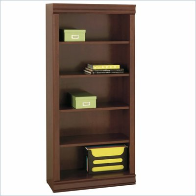 South Shore Vintage Collection 5 Shelf Wood Bookcase in Classic Cherry