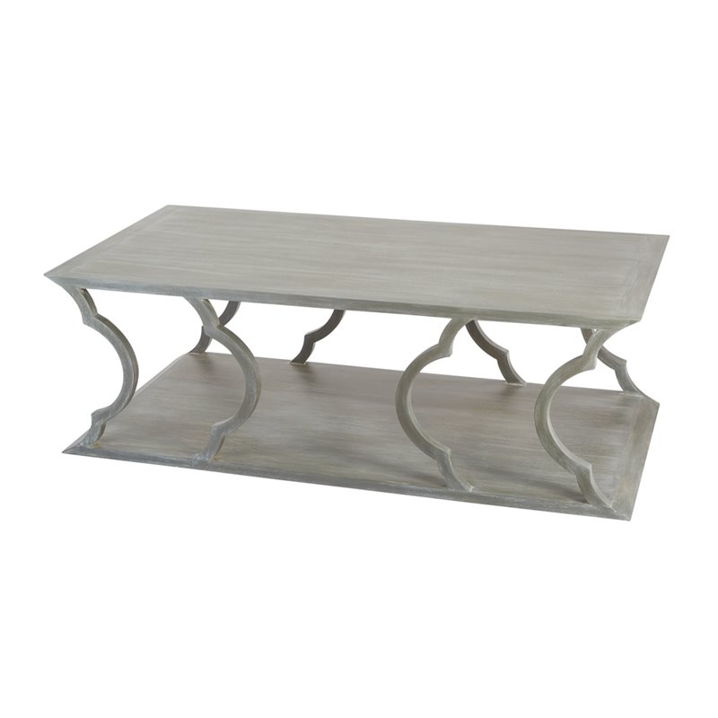 Dimond Home Mahogany Cloud Coffee Table in Gray Wood