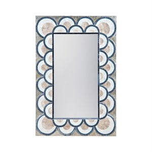 Dimond Home Decorative Mirror in Natural Capiz and Navy B...