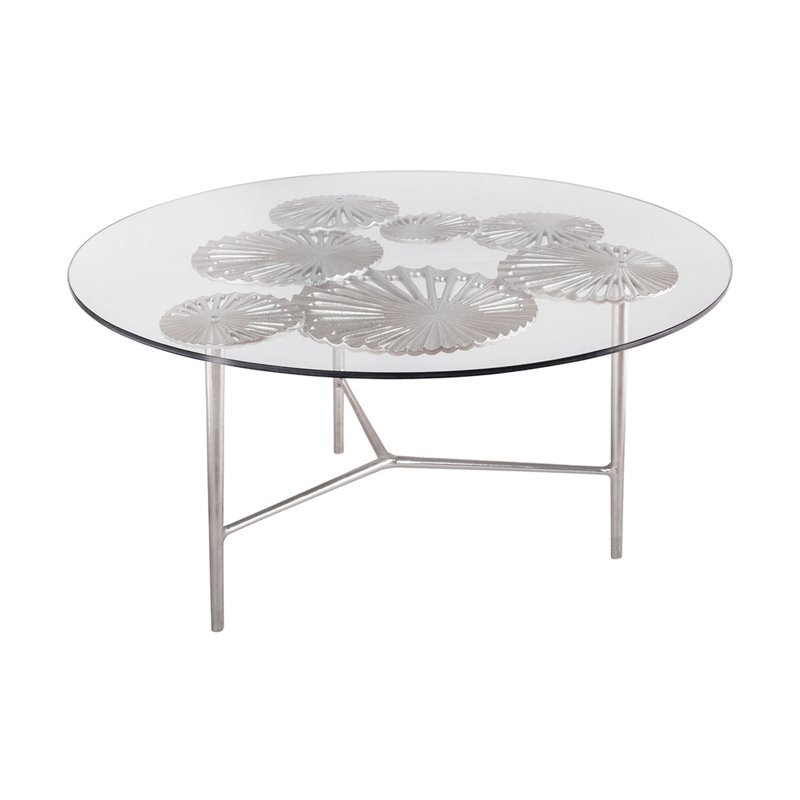 Dimond Home Victoria Round Coffee Table in Nickel 8987-017