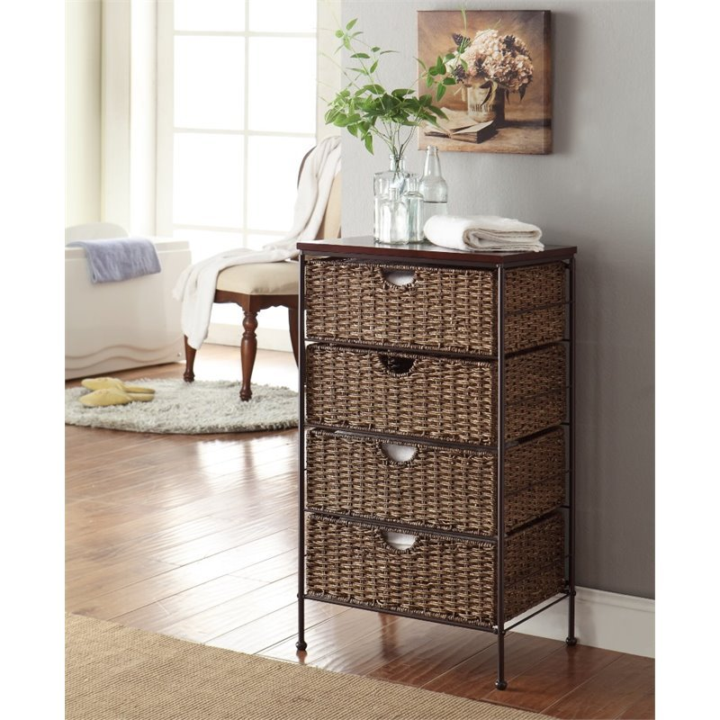 4D Concepts Farmington 4 Drawer Chest in Brown