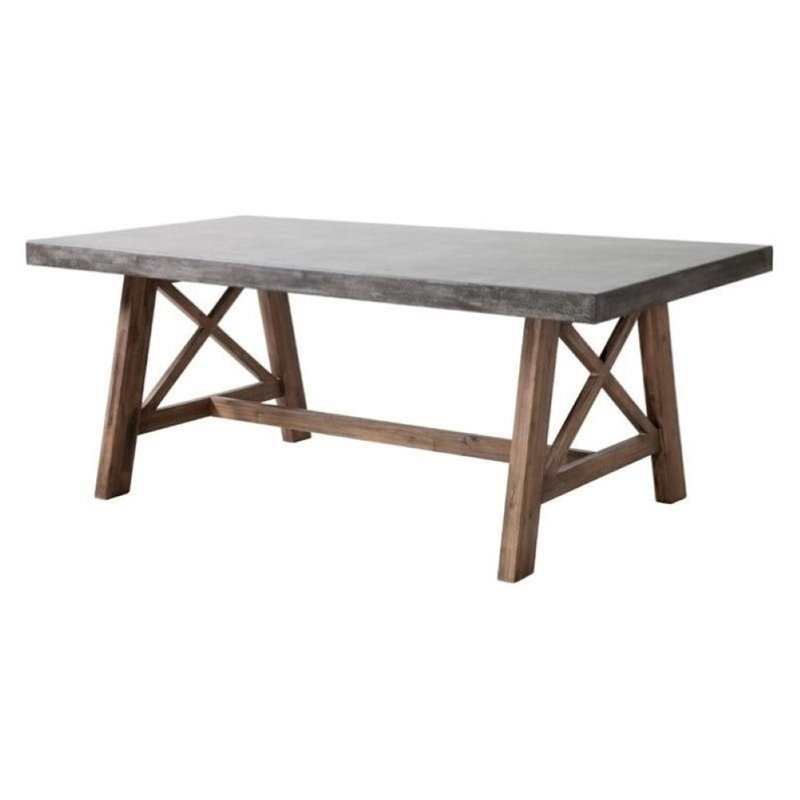 Brika Home Patio Dining Table in Cement