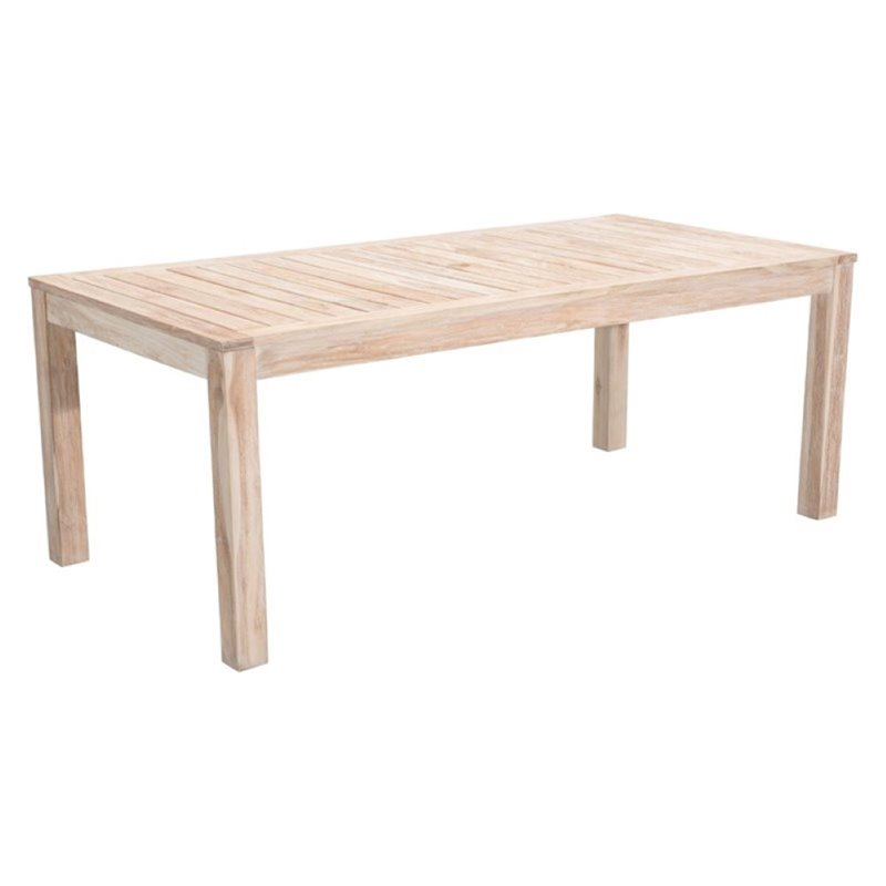 Brika Home Patio Dining Table in White Wash