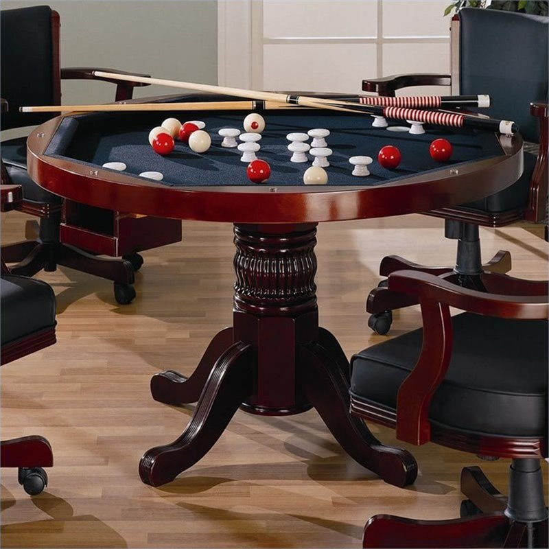 Bowery Hill 3-in-1 Game Table in Cherry BH-362431