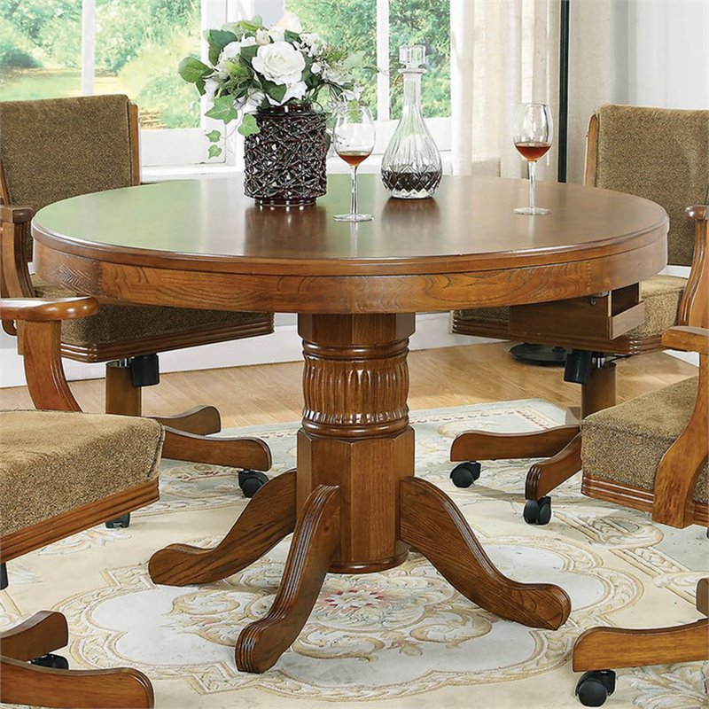 Bowery Hill 3-in-1 Game Table in Oak BH-362434