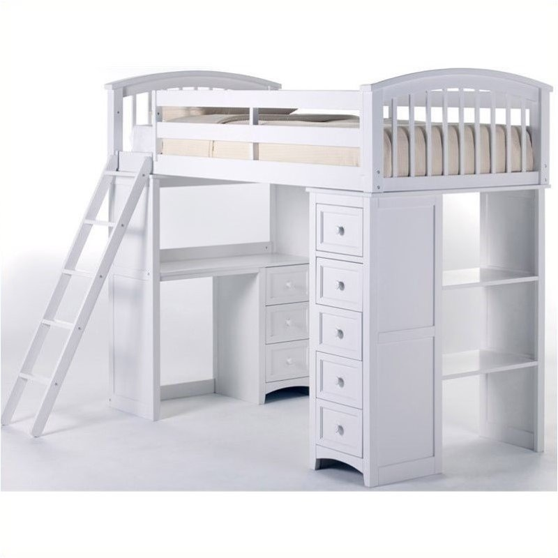 Bowery Hill Student Loft Bed in White