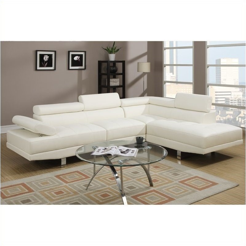Bowery Hill 2 Piece Sectional Sofa in White