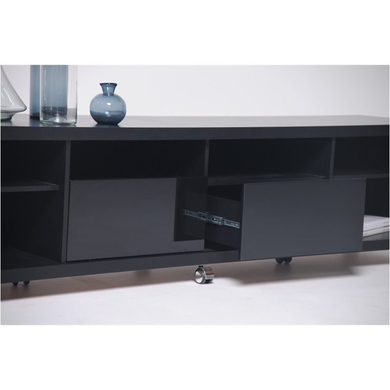 "Bowery Hill 2.2 Series 85"" Tv Stand In Black"