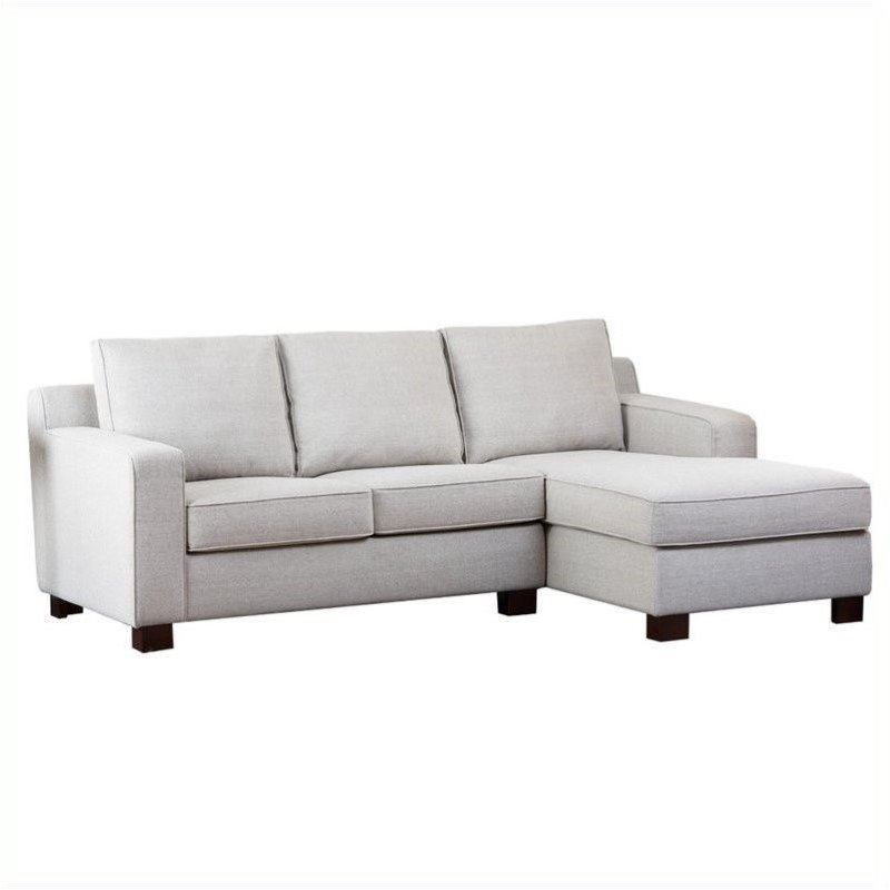 Bowery Hill Fabric Sectional Sofa in Gray