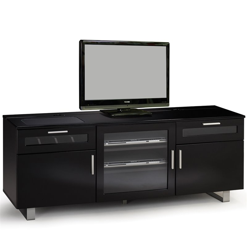 "Bowery Hill Contemporary 60"" Tv Stand In Black"
