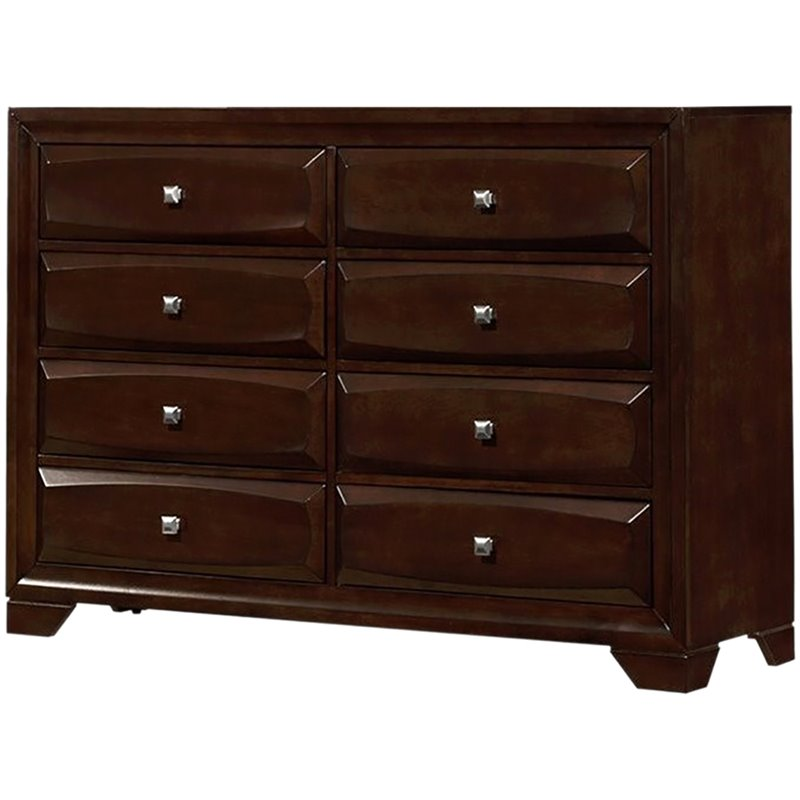 Bowery Hill 8 Drawer Dresser in Cappuccino