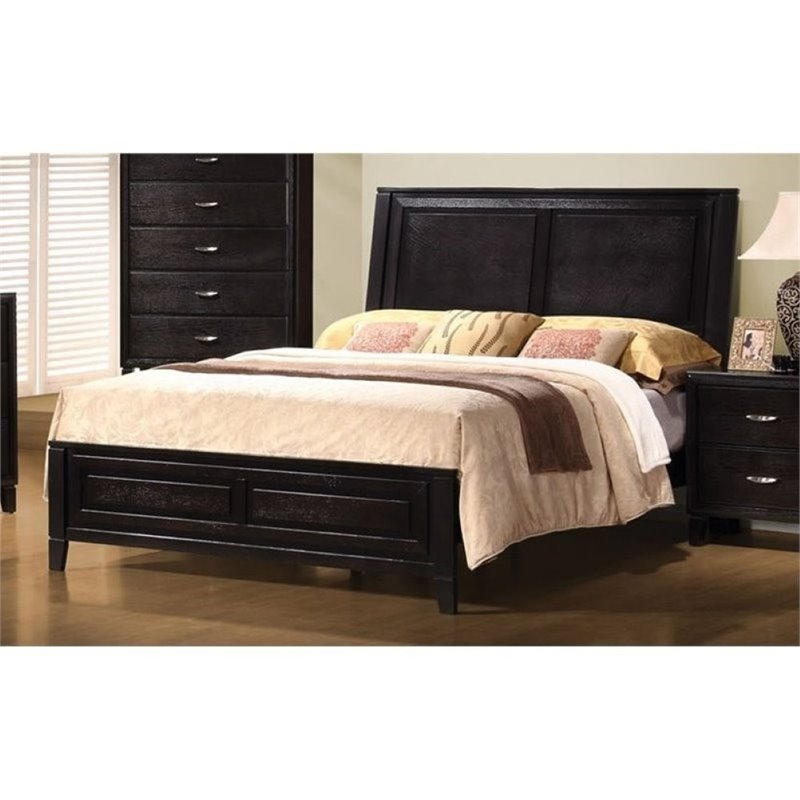 Bowery Hill King Contemporary Bed in Dark Brown