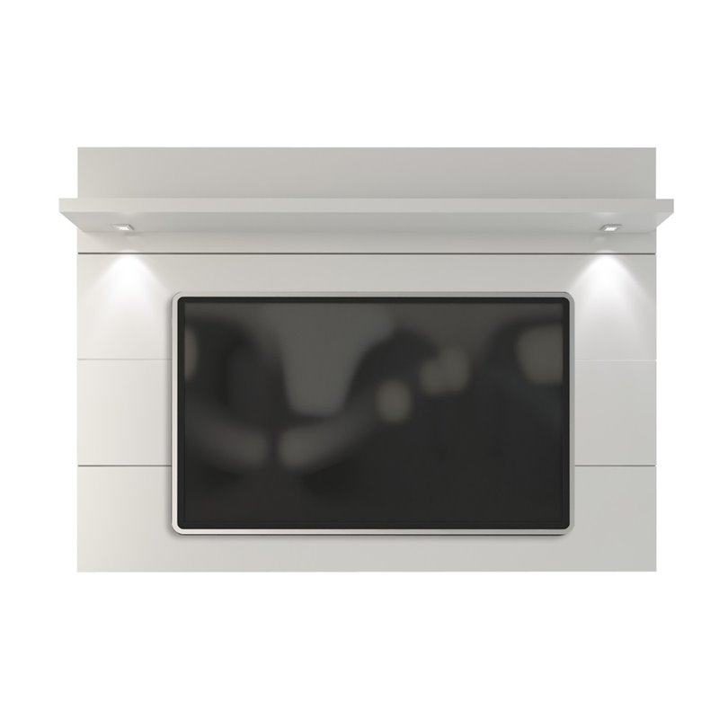 "Bowery Hill 71"" Tv Panel In Glossy White"