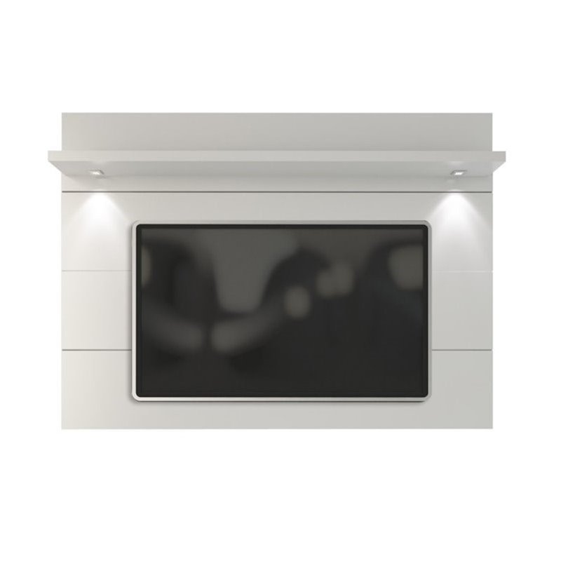 "Bowery Hill 86"" Tv Panel In Glossy White"