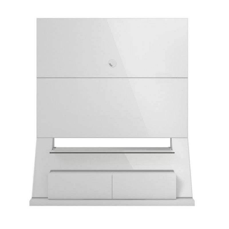 "Bowery Hill 53"" Tv Stand In Glossy White"