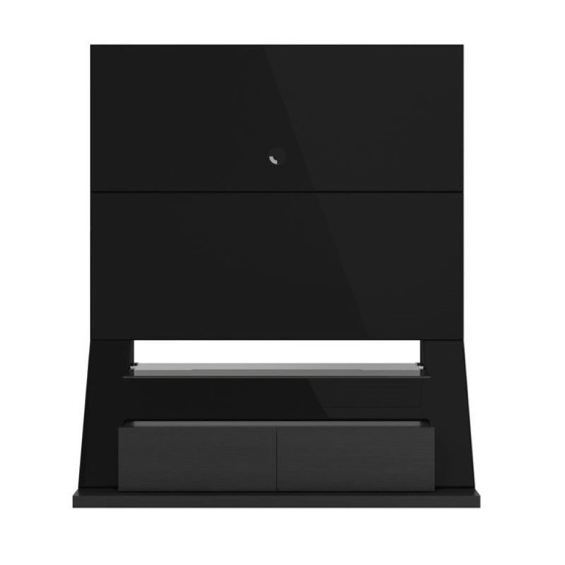 "Bowery Hill 53"" Tv Stand In Glossy Black"